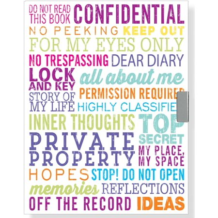 Master Coded Notebook Lock - For My Eyes Only Locking Journal (Diary, Notebook)