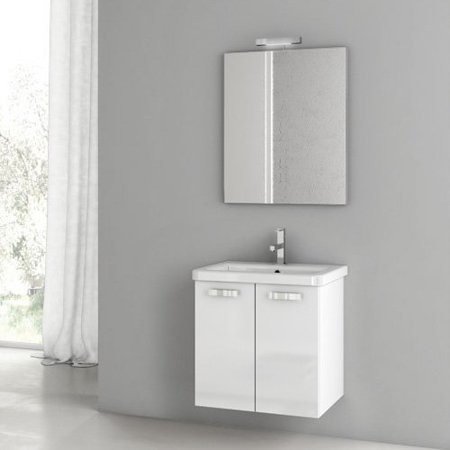 ACF by Nameeks ACF CP01-GW City Play 22-in. Single Bathroom Vanity Set - Glossy White