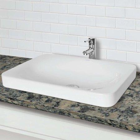 DECOLAV Hazel Classically Redefined Vitreous China Rectangular Vessel Bathroom - Decolav Pedestal Sink