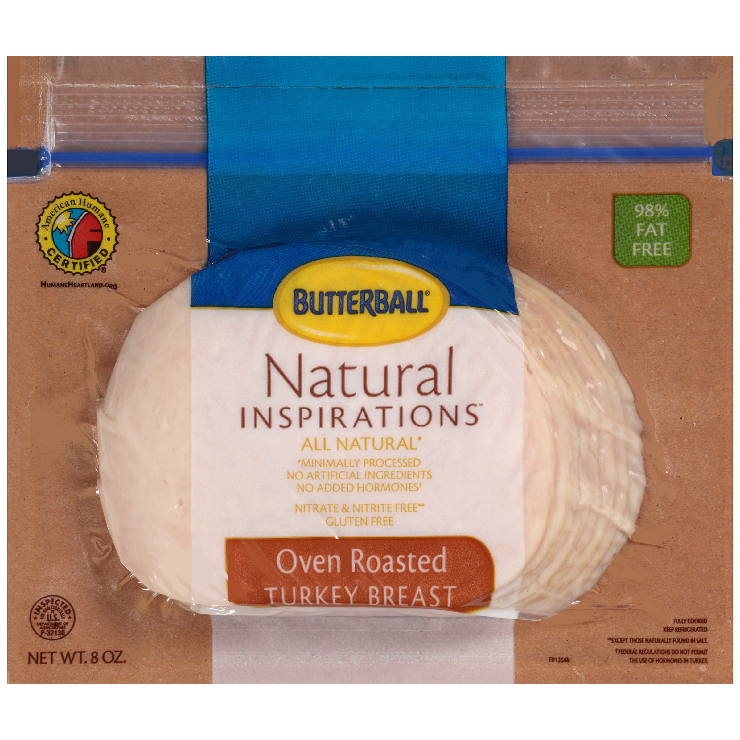 Butterball® Natural Inspirations™ Oven Roasted Turkey Breast 8 oz.