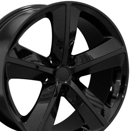 Chrysler 300 Billet (OE Wheels 20 Inch SRT Style | Fits Dodge Challenger, Charger, SRT8, Magnum, Chrysler 300, SRT8 | DG05 Gloss Black 20x9 Rim Hollander)