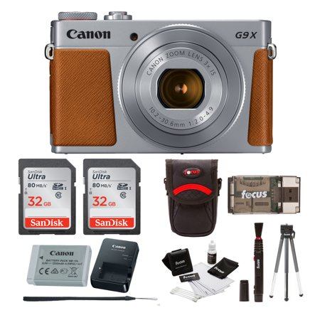 Canon Powershot G9 X Mark II Digital Camera with Two 32GB SD Cards Bundle