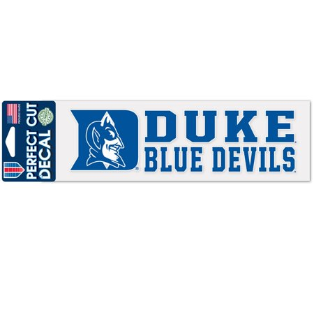 - Duke Blue Devils Official NCAA 3 inch  x 10 inch  Perfect Cut Car Decal by WinCraft