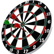 """14"""" Diameter Double Sided Dartboard with 6 Darts Perfect for family Party -New by"""