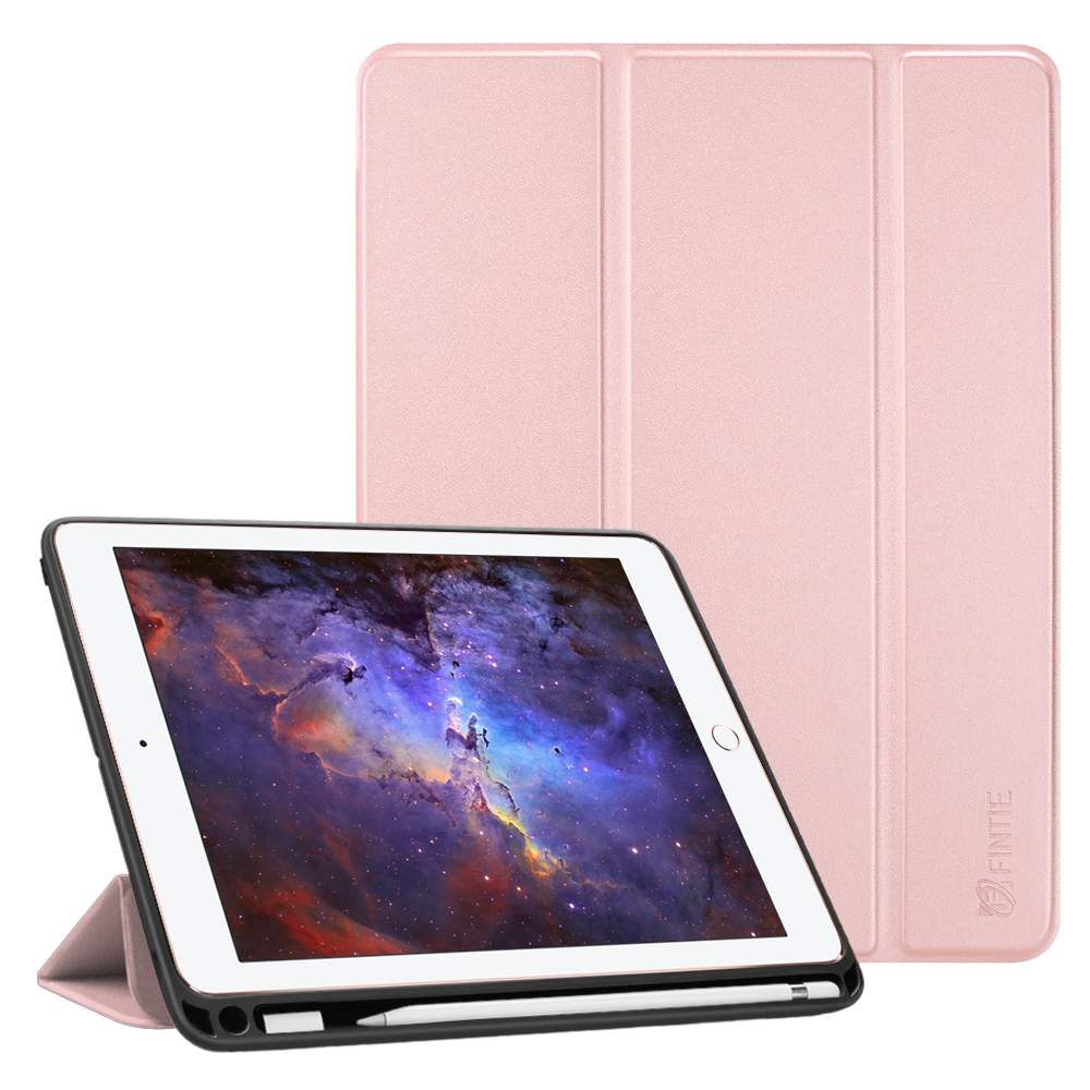 reputable site d8aa2 6fbeb Fintie Case for iPad 9.7 6th Gen / 5th Gen - TPU Back Shell Cover with  Pencil Holder & Adapter Slot, Rose Gold