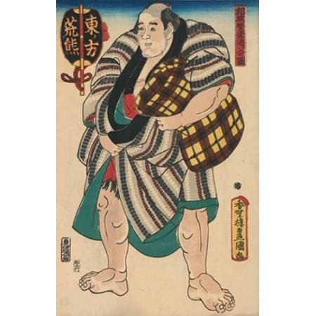 Tired Sumo Wrestler 1850 Poster Print by Unknown - Sumo Wrestler Kids Costume