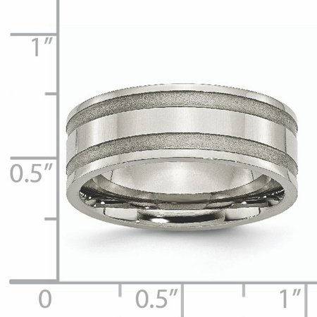 Titanium Grooved 8mm Brushed Wedding Ring Band Size 7.50 Fashion Jewelry For Women Gifts For Her - image 4 of 10