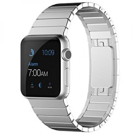 Kades Apple Watch Band Link Bracelet Full Stainless Steel Metal Strap For Apple Iwatch  3Rd Generation  42Mm Silver