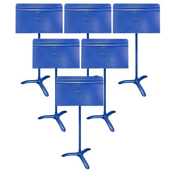 Manhasset Model #48 Symphony Music Stand, 6-Pack Blue by Manhasset
