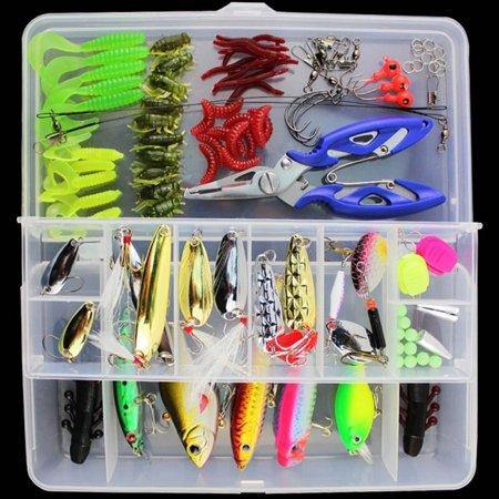 101PCS/Lot Fishing Lure Multi-function Wobblers Shone Fishing Equipment Soft Hard Fishing Lure Fishing Hook Clip Artificial thumbnail