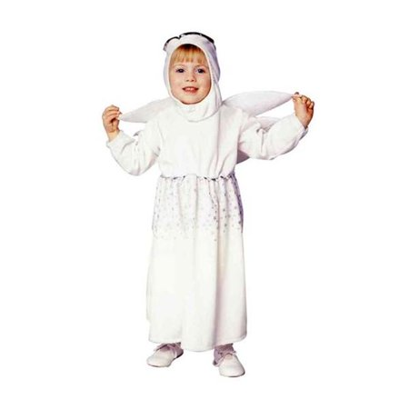 Angel Dress With Wings Costume - Size Toddler (Angel Wings Costume For Men)