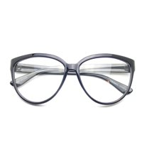 d779541b1d2 Product Image Emblem Eyewear - Womens Oversize Retro Nerd Clear Lens  Fashion Cat Eye Geek Glasses