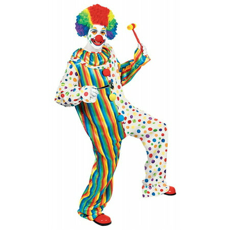 Clown Jumpsuit Adult Costume - Standard - Clown Jumpsuit Costume