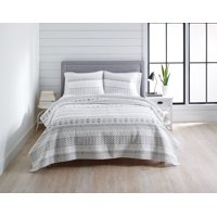 Better Homes & Gardens Ultra-Soft Embroidered Stripe Quilt & Sham Bedding Collection