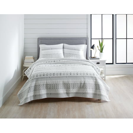 Better Homes & Gardens Embroidered Stripe Full/Queen Quilt
