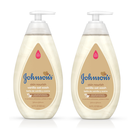 Nourishing Collection ((2 pack) Johnson's Skin Nourish Baby Wash With Vanilla & Oat Extract, 16.9 fl. oz )