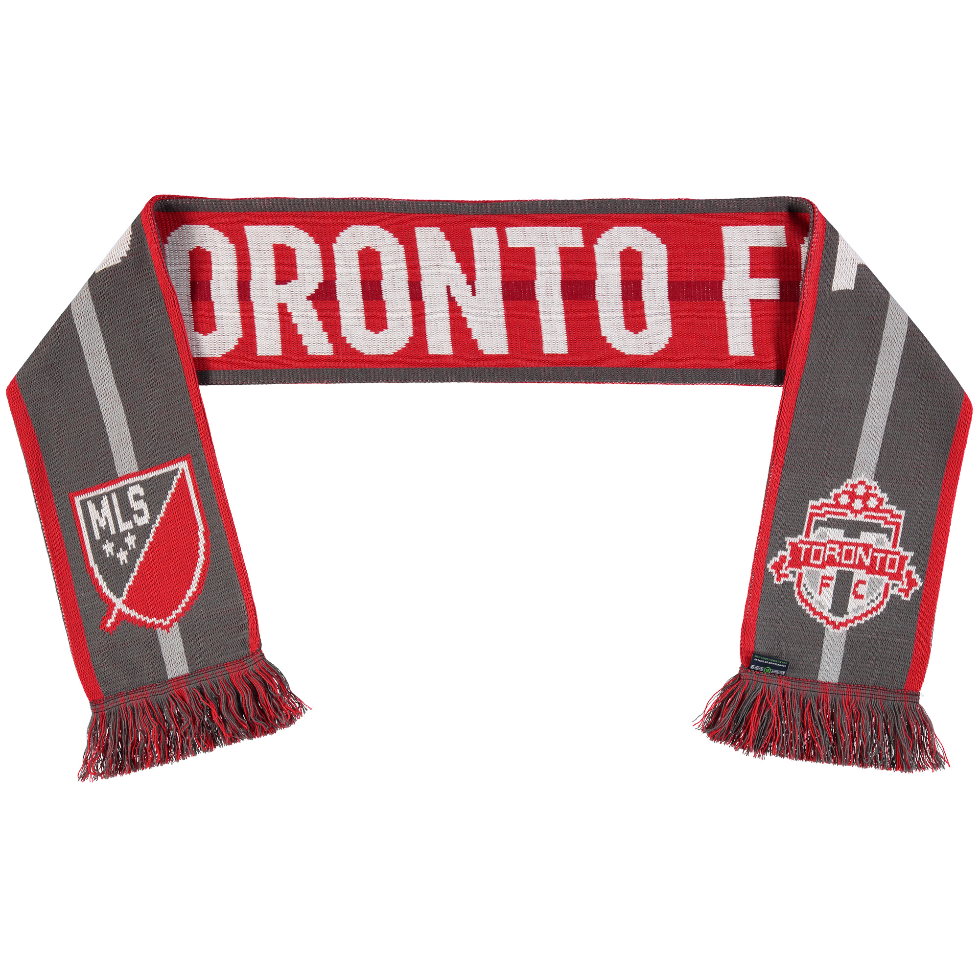 Toronto FC Team Pride Scarf - Red/Gray - No Size
