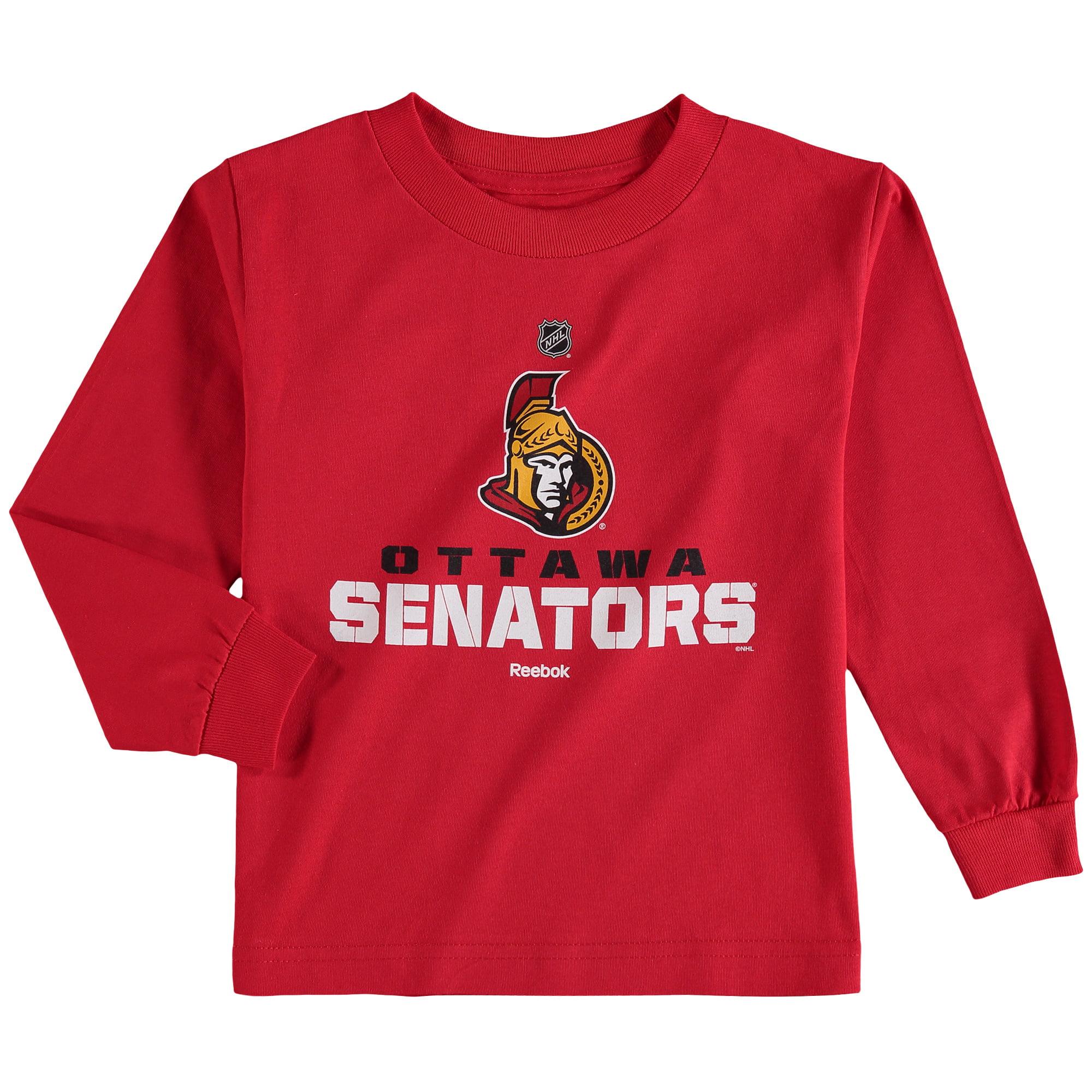 Ottawa Senators Reebok Preschool Clean Cut Long Sleeve T-Shirt - Red