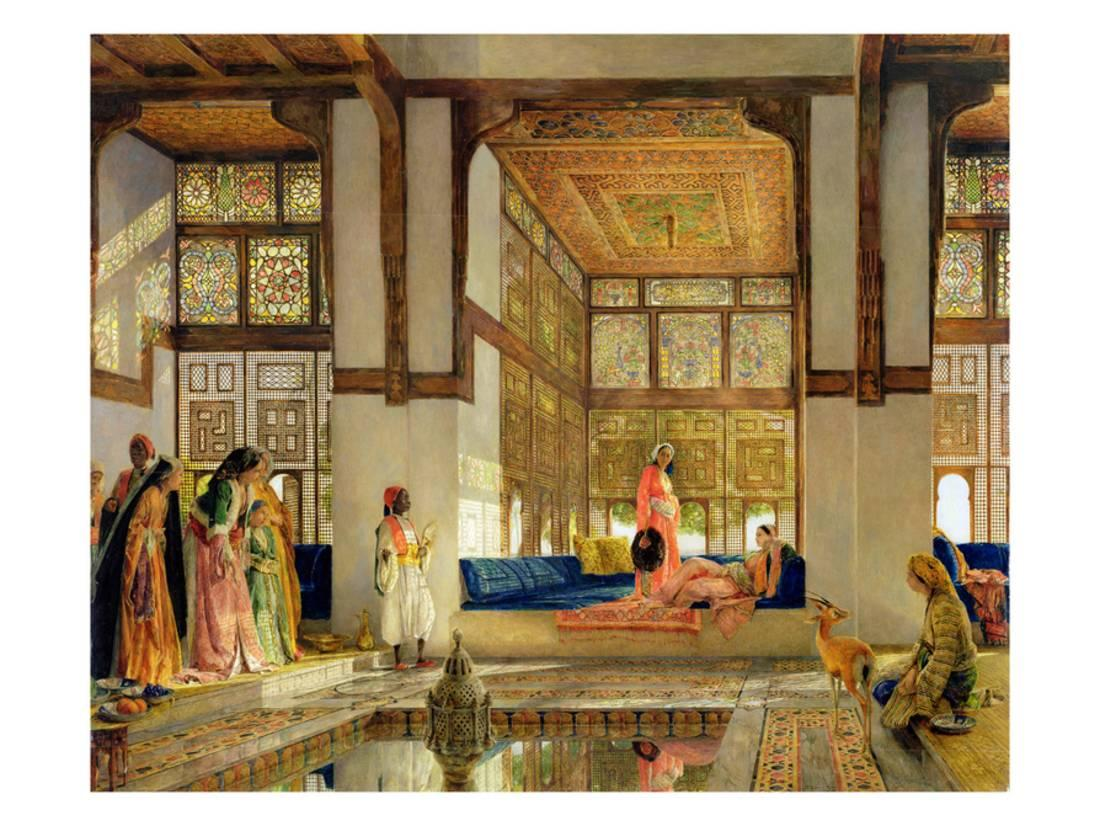 The Reception, 1873 (Oil on Panel) Print Wall Art By John Frederick Lewis