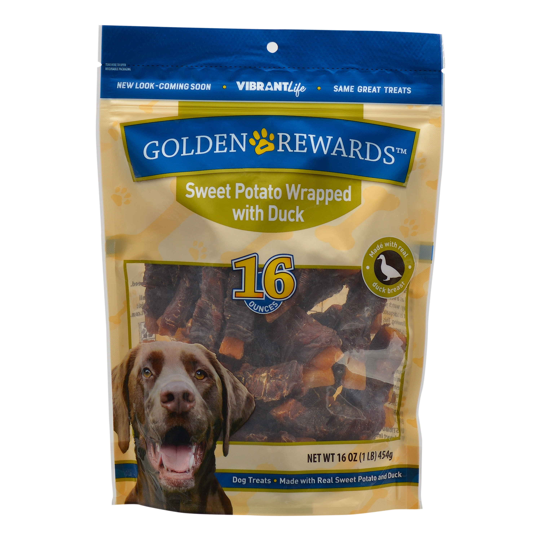 Golden Rewards Sweet Potato with Duck Dog Treats, 32 oz.