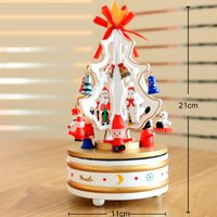 CARLTON GLOBAL Mini Christmas Tree Ornament Desk Table Festival Xmas Party Decor Gifts 25cm