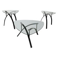 United Furniture 3 Piece Mixed Media Coffee Table Set