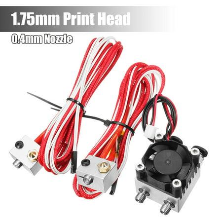 0.4/1.75mm 3D Printer Extruder Double Nozzle Dual Metal Head