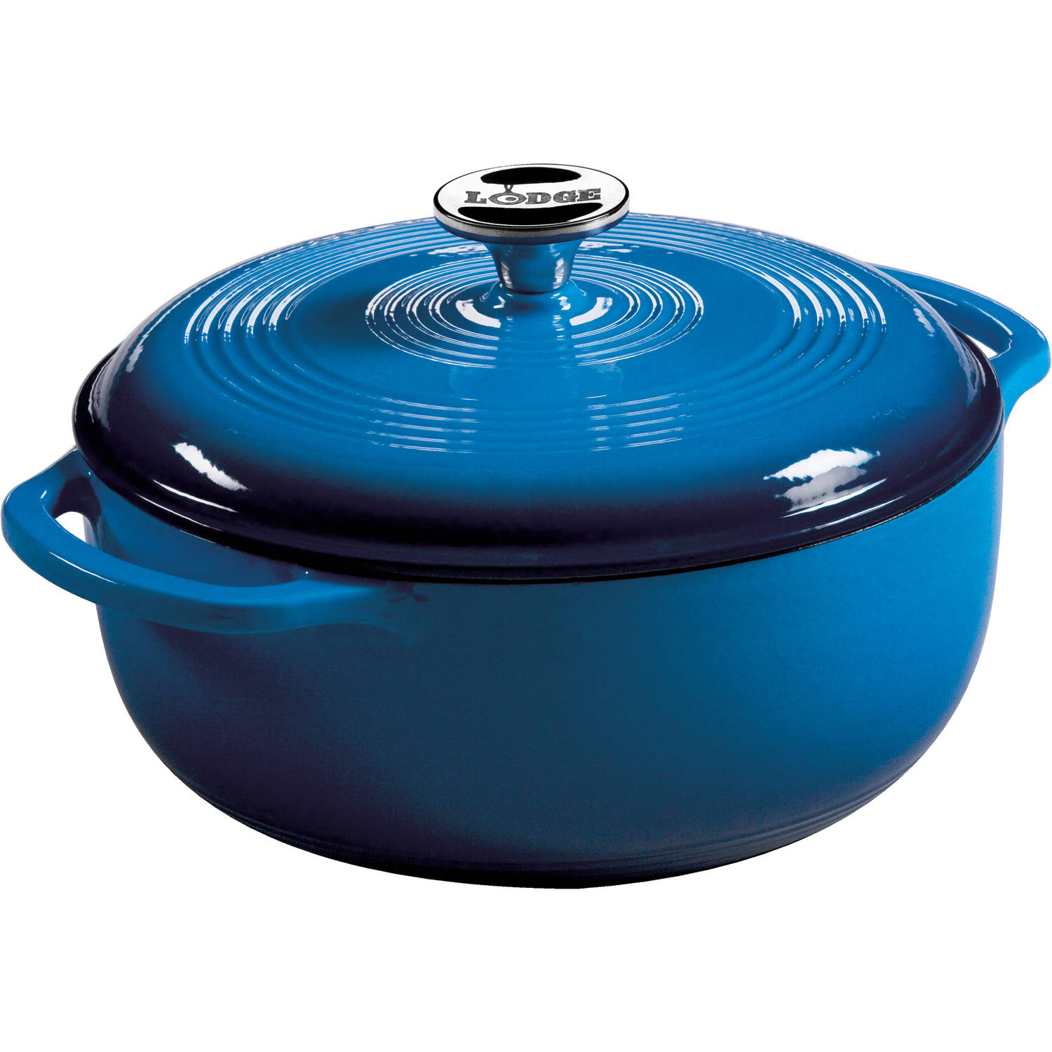 Lodge Enameled Cast Iron 4.6-Quart Dutch Oven, Blue