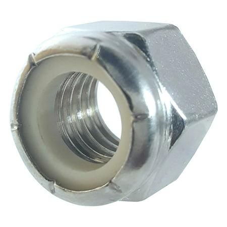Fifty (50) 1/4-20 Zinc Plated Nylon Insert Hex Lock Nuts (BCP230)