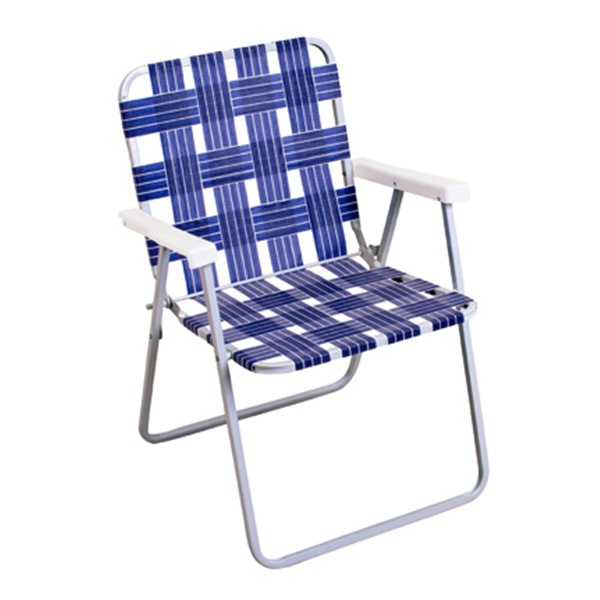 RIO BRANDS LLC BY055A-0138 Blue Aluminum Web Chair