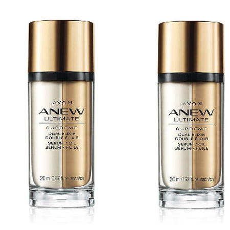 Vintage Avon Owl - Avon Anew Ultimate Supreme Dual Elixir Serum/Oil Lot of 2