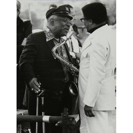 Count Basie Chatting with Illinois Jacquet at the Capital Radio Jazz Festival, London, July 1979 Print Wall Art By Denis Williams - Halloween Festivals 2017 Illinois