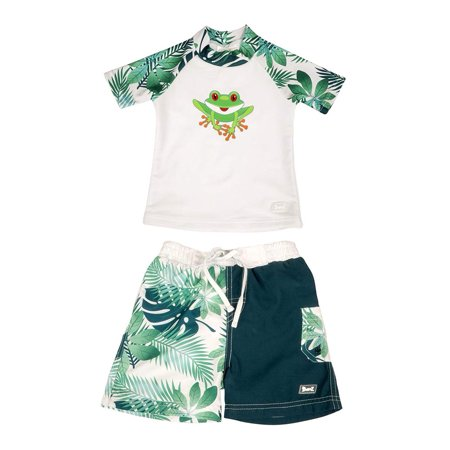 a5409d3970021 Baby Banz Short Sleeved Two-Piece Boys Swimsuit - Frog (Size 2) ...
