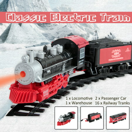 Best Choice Products Classic Train Set For Kids With Real Smoke, Music, and Lights Battery Operated Railway Car