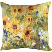 Manual Woodworkers & Weavers Sunflower Fields Knife Edge Throw Pillow