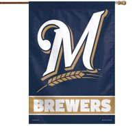 "Milwaukee Brewers WinCraft 28"" x 40"" Wordmark Single-Sided Vertical Banner"