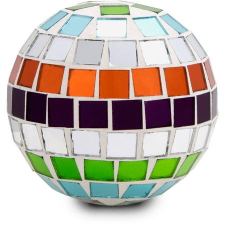 Pavilion- Merry Mosaics Decorative Glass Center Piece Ball - Small Christmas Decoration (Mosaic Pieces)