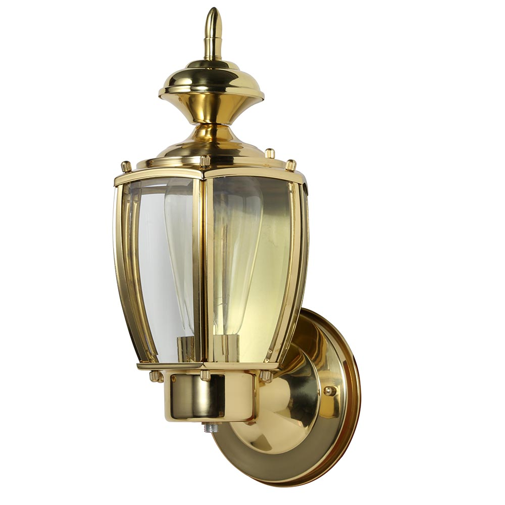 Design House 501486 Jackson 1-Light Indoor/Outdoor Wall Light, Solid Brass