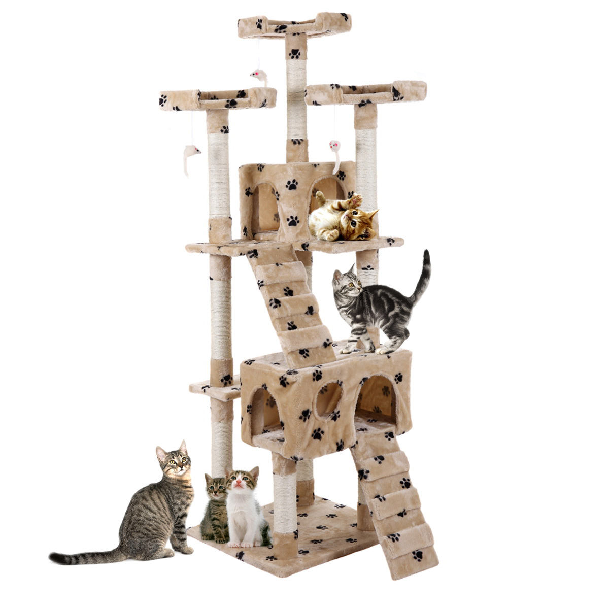 """Jaxpety Pet Kitty Play House New 67"""" Cat Tree Tower Condo Furniture Scratching Post by Jaxpety"""