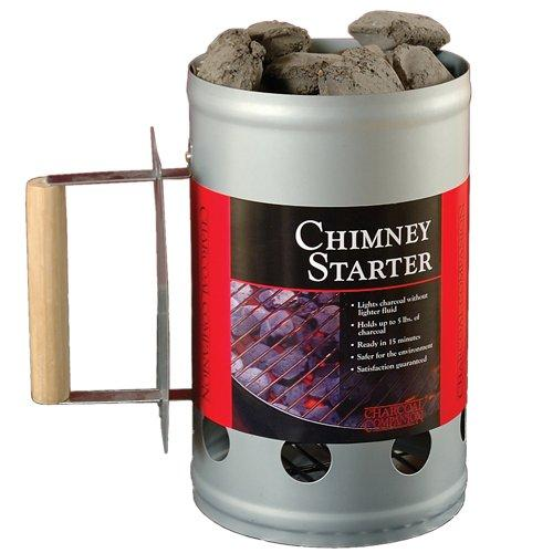 Charcoal Companion Silver Chimney Charcoal Starter Multi-Colored