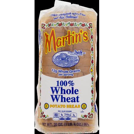 Martin's 100% Whole Wheat Potato Bread- 16 Slice 20 oz. (4