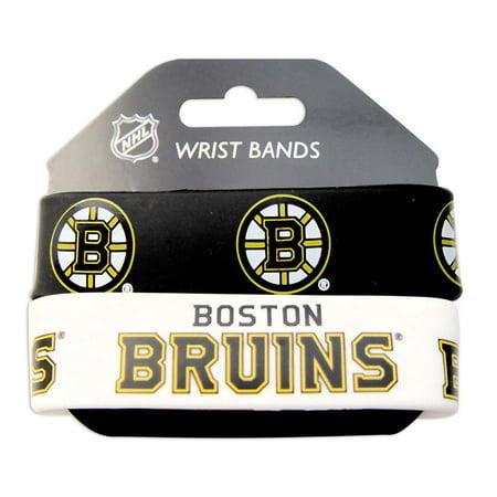 NHL Boston Bruins Sports Team Logo Rubber Wrist Band Set of - Band Logo Wristband