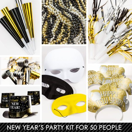 Metallic New Years Kit (For 50 Guests) - New Year Eve ...