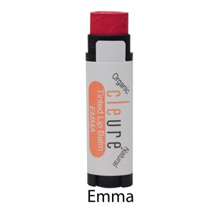 Cleure Tinted Lip Balm - Organic, Moisturizing, with Shea Butter, Flavor-Free,