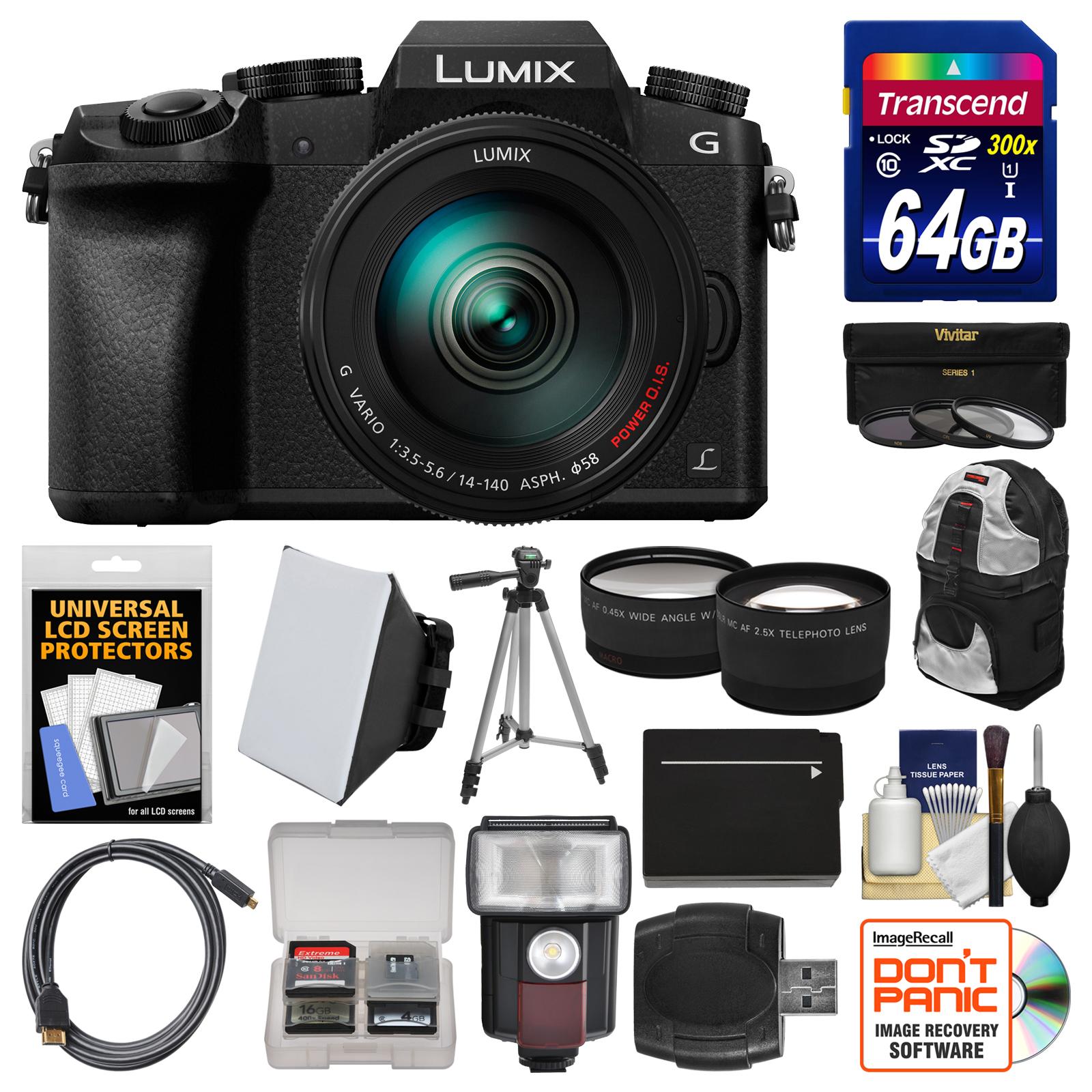 Panasonic Lumix DMC-G7 4K Wi-Fi Digital Camera & 14-140mm...