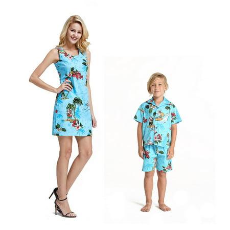 ad5f67c12 Hawaii Hangover - Matching Mother Son Hawaiian Luau Outfit Christmas ...