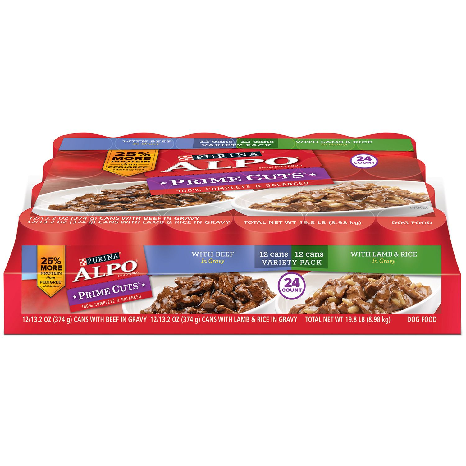 Purina Alpo Prime Cuts in Gravy Wet Dog Food Variety Pack...