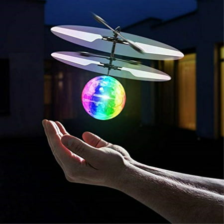 Infrared Rc Helicopter - Universal Specialties Flying Toy Ball Infrared Induction RC Flying Toy Built-in LED Light Disco Helicopter Shining Colorful Flyi