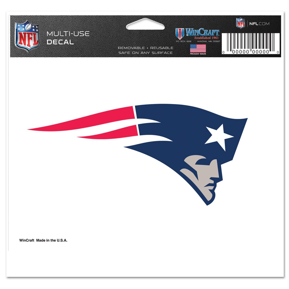 "New England Patriots Ultra decals 5"" x 6"""