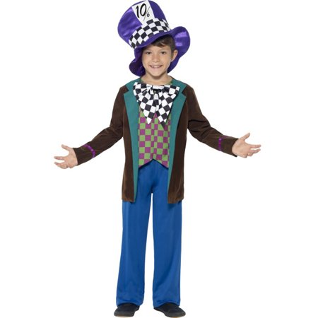 Mad Hatter Tea Party Outfits (Child's Boys Deluxe Wonderland Crazy Mad Hatter Tea Party)